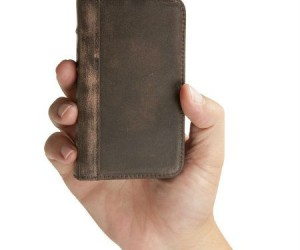 Leather iPhone Wallet Case – This is not only an iPhone case it is also a full fledged wallet with compartments to hold you id and credit cards