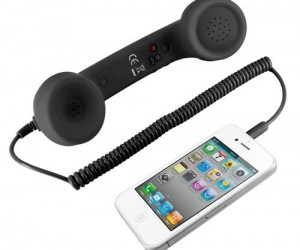 Retro Phone iPhone Handset: If you're anything like me you miss the the feeling of using a corded phone.