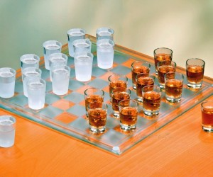 Shot Glass Checkers Set: What better way to get completely wasted than with a game of shot glass checkers?