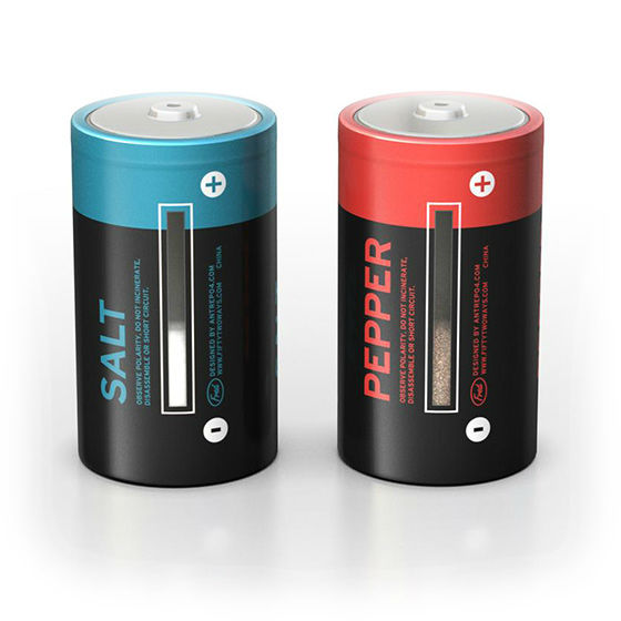 battery salt and pepper shakers
