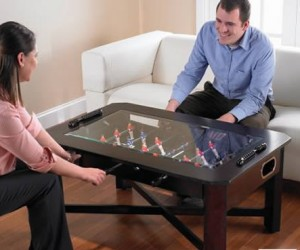 Foosball Coffee Table – This foosball coffee table is the perfect conversation starter, invite a lady friend over and you'll be ready for a little 1 on 1 action.