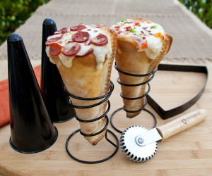 Pizza Cone Maker – Combining two of your favorite foods into a cheesy ball-cone of awesomeness