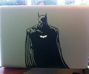 Batman Macbook Decal – Because he's the macbook decal you deserve