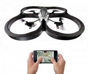 Parrot Drone Quadcopter – This amazing feat of toy technology can be controlled using your iPhone, iPad, or Android phone!