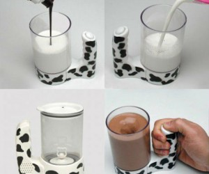 The Moo Mixer – Makes the perfect glass of chocolate milk every time!