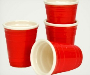 Red Solo Cup Shot Glasses – Feed your red solo cup obsession with these cool little ceramic shot glasses. Comes in sets of 4.