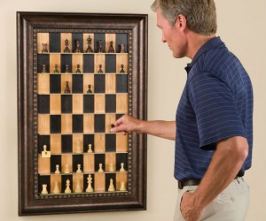 Vertical Chess Set – Why play boring old horizontal chess when you can play vertically?