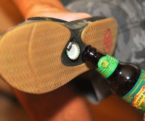 Bottle Opener Sandals – These Reef sandals come with a bottle opener built in so you'll never be without one.