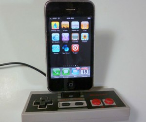 Old meets new with the Nintendo Controller iPhone charging dock