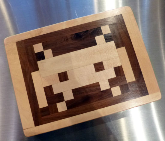 space invaders cutting board etsy