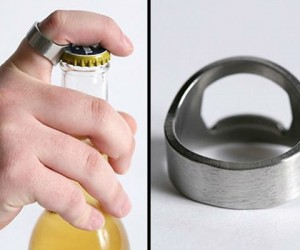 Take a bottle opener wherever you go with the ultra cool bottle opener ring