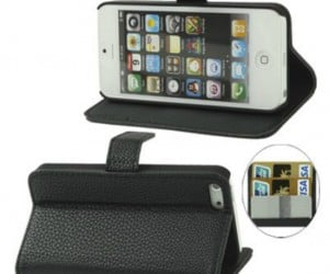 iPhone 5 Wallet and Stand Case – If your pocket or purse is getting too bulky with your iPhone, wallet, and stand for your iPhone; Why not save some room