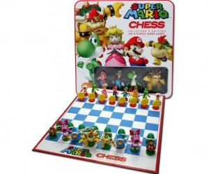 Nintendo Super Mario Chess – Now you don't have to turn on your Nintendo or your TV to battle for the mushroom kingdom.