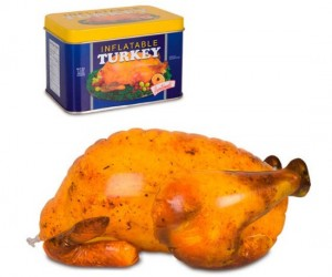 Inflatable Turkey – Have fun pranking the dinner host who was expecting you to provide the roast bird this Thanksgiving.