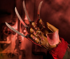 It's like Krueger is reaching straight out of your nightmares with this exact replica of his famed weapon. The leather may be fake but the blades are real. CAUTION: Not