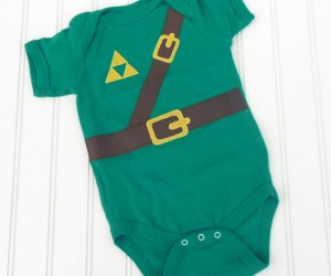 Link must have been the most adorable baby in Hyrule, especially if he was sporting this way too cute onesie.