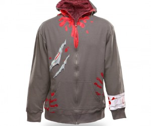 Zombie Hoodie – Here's an idea for some defense during the zombie apocalypse: Camouflage, the zombies won't realize you're prey when you blend right in with them.