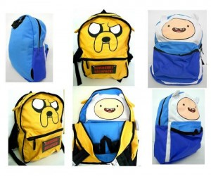 Adventure Time Backpack – Whether you're a fan of Finn the human or Jake the dog or especially both, you'll love to carry them on your back and make them