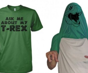 Rawr! Be your very own dinosaur with the Ask Me About My T-Rex shirt
