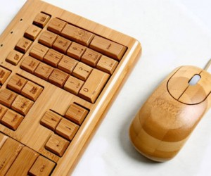 Bamboo Keyboard and Mouse – Class up your peripheral setup with this beautifully handcrafted bamboo keyboard and mouse set.