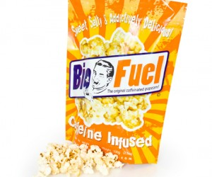 Caffeine Infused Popcorn –Caffeineplus popcorn what could be better than a caffeinated crunchy popped kernel of awesome?