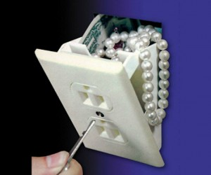 Hidden Wall Safe – If you were robbing a house, would you ever think to look behind the power outlets?