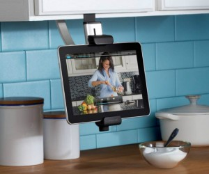 Great for when you need your cooking apps in full view while preparing dinner, it also works on various other types of shelves.