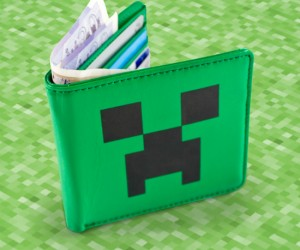 Nobody will want to try and rob you if your money is protected by a creeper. Let's just hope it doesn't explode and destroy all your cash.
