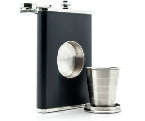 Shot Glass and Flask – Everything you need to have a fun night out fits right in your pocket!