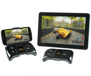 Who says apple has to have all the cool accessories? You can play games on any android 2.3 or higher enabled devices using this controller. The smaller devices (smartphones) even
