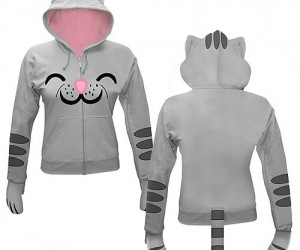 """Big Bang Theory Kitty Hoodie – While wearing this hoodie you won't be able to resist running around reciting """"Soft kitty, warm kitty, little ball of fur. Happy kitty, sleepy"""