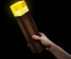 Minecraft Light Up Torch – Mount this light to your wall and it is guaranteed to keep those creepers away from your home within a 12 block radius.