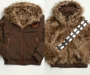 Keep as warm as a wookie with this reversible star wars Chewie jacket