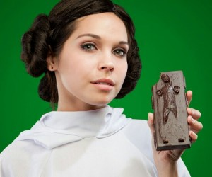 Han Solo Chocolate – Even Star Wars geeks love romance, give your Princess Leia a chocolate Han Solo for Valentine's Day. The traditional V-day gift with a geeky twist.