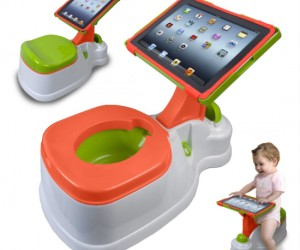 iPotty iPad Activity Seat – Now your kid can play angry birds while he/she potty trains.
