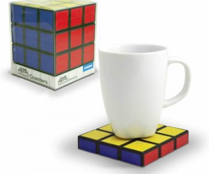 Rubik's Cube Coasters – Nothing to solve here.