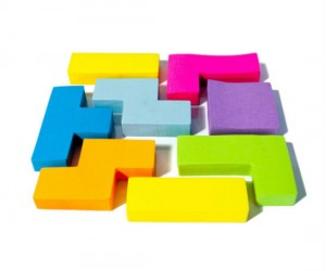 Tetris post it notes – Specially challenged? Take note and try these.