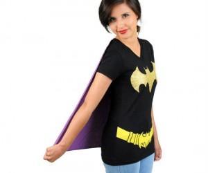 Batgirl Caped Tee – Because Batgirl is much cuter than Batman.