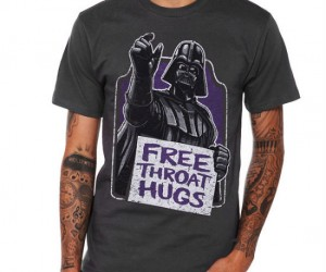 Star Wars Free Throat Hugs Shirt – Who can resist a free hug even if it's from Darth Vader and for your throat.