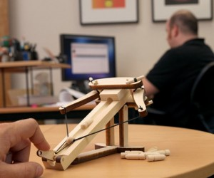 Miniature Ballista Kit – Now you can finally wage mini warfare against your oversized office mates.