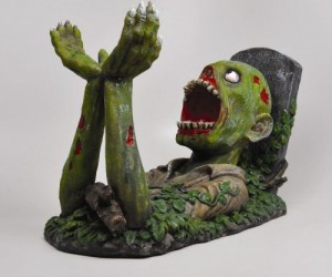Zombie Wine Holder – Zombies are notoriously good at manual labor why not have one hold your bottle of wine for eternity.