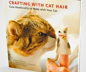 No no, don't go shaving your cats, just collect their shedding fur as you brush them. It makes the perfect gift for the crazy cat lady in your life!