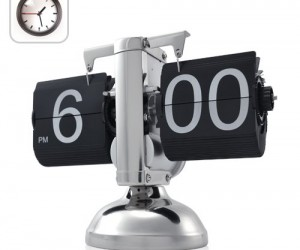 Create that great retro feel for your home or office with this beautiful flip down clock.