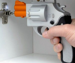 Gun Shaped Screwdriver – Probably the coolest way to fix a cabinet or anything else around the house.