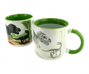 Disappearing Dinosaur Mug – The image disappears just like the dinosaurs.