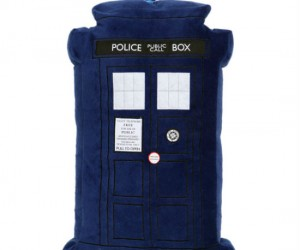 With the lights and sounds of the TARDIS playing from your pillow you will be traveling through time and space… in your dreams!
