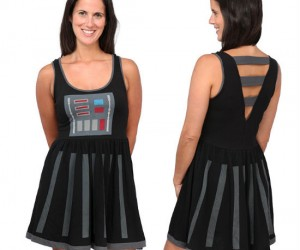 Darth Vader Dress – Ever the Dark Side has some style.