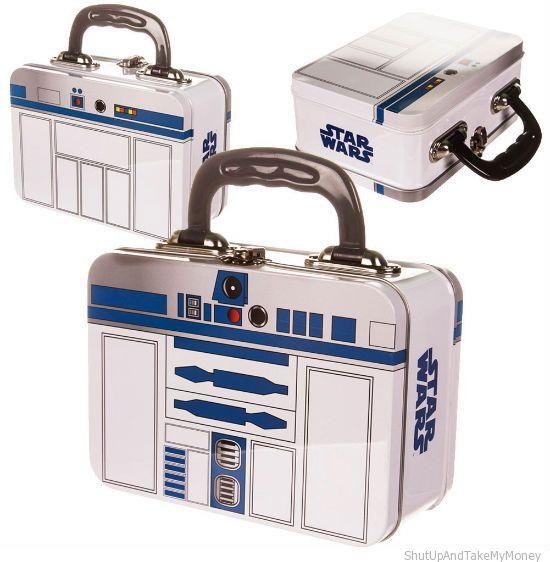 r2 d2 tin tote lunchbox