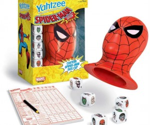 Spider Man Yahtzee – Who wouldn't love playing Yahtzee out of Spider Man's head