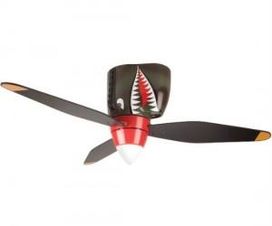 It's a bird! It's a plane! It's a P-40 WWII Tiger Shark Warplane ceiling fan!